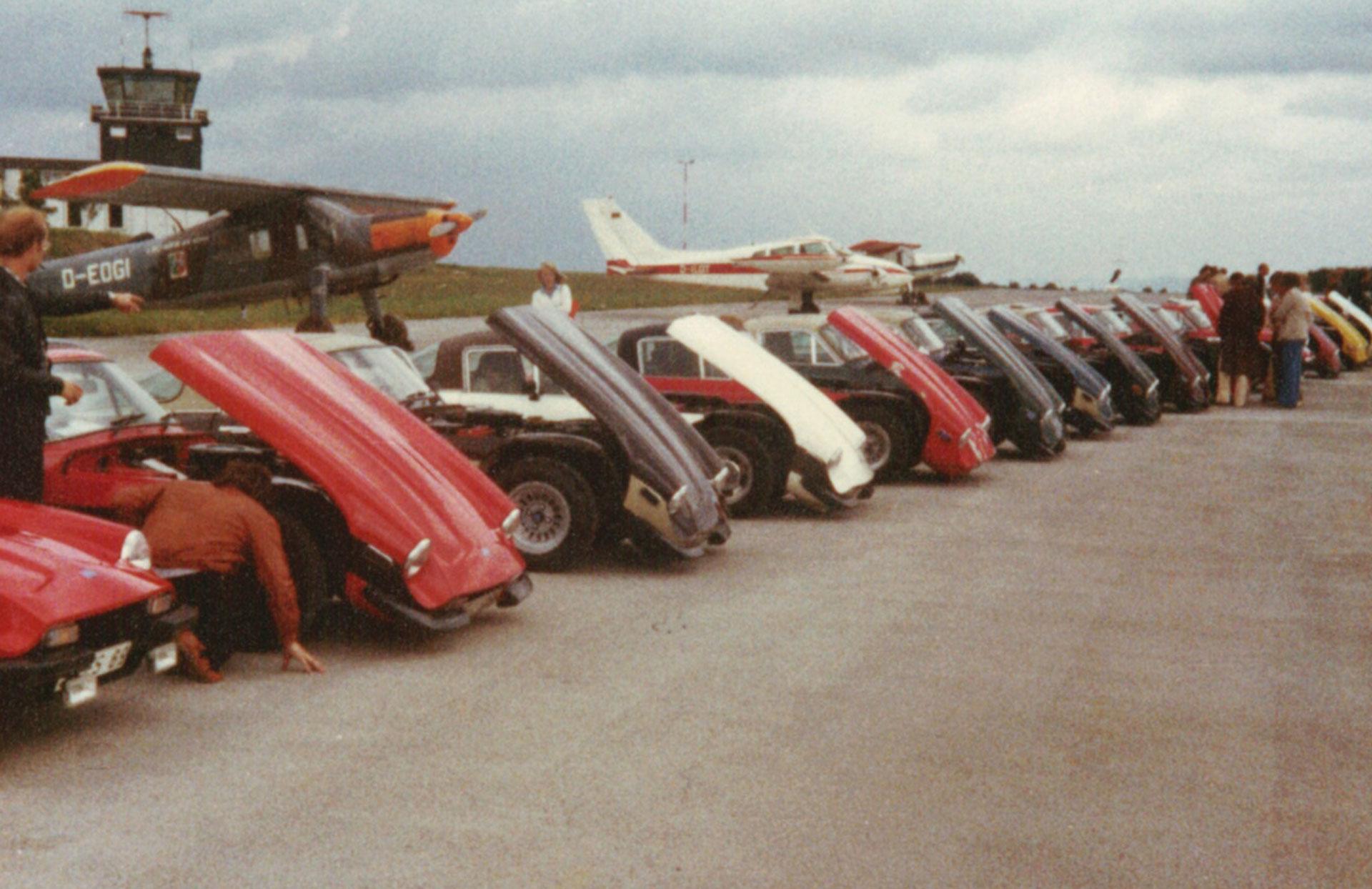 Erste Zusammenkunft des neuen TVR Car Club Deutschlands 1979