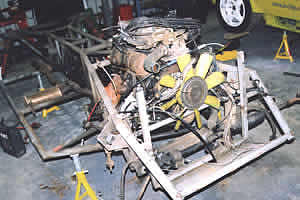 TVR 280i chassis ready for restoration