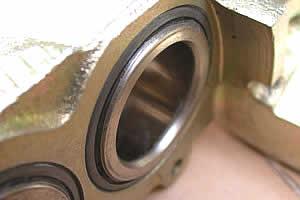 Stainless piston closeup