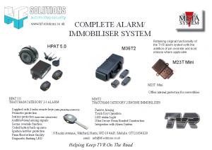 Complete Alarm Immobiliser System