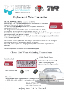 Replacement Transmitter Requirements